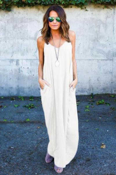 Shelia Pocketed Maxi Dress