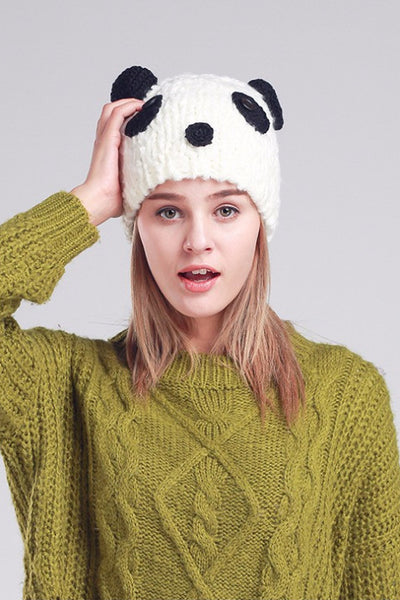 Cute Panda Novelty Beanie, Hat, Panda Design, Winter Hat, lovepeaceboho