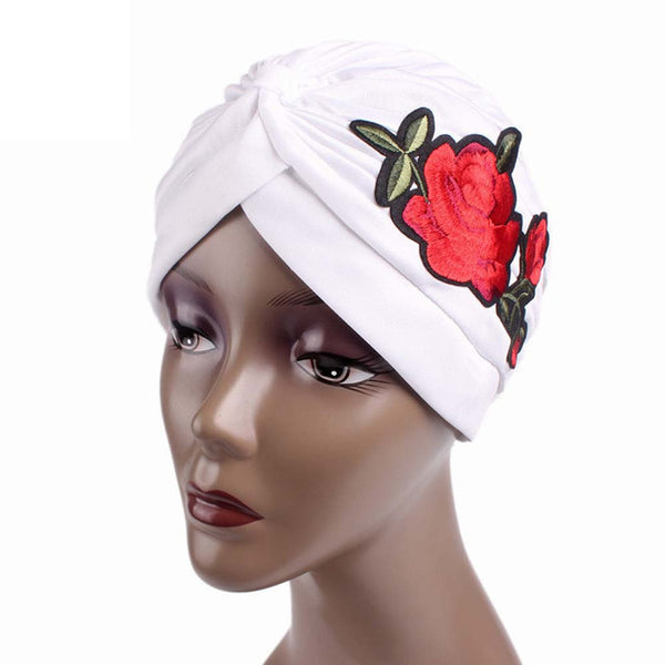 Floral Embroidered Turban