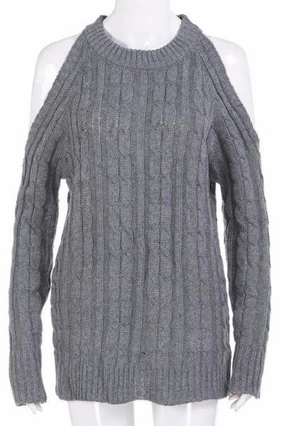 Morgan Cold Shoulder Knitted Sweater