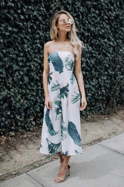 [FINAL SALES] Tamera Palm Print Jumpsuit
