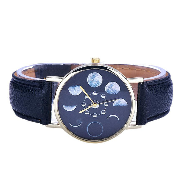 Lunar Eclipse Analog Watch, Watch, lovepeaceboho, lovepeaceboho