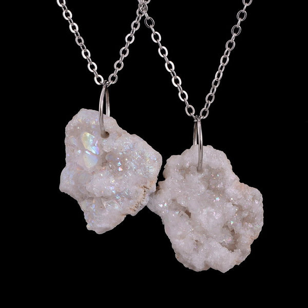 Druzy Crystal Simple Statement Necklace