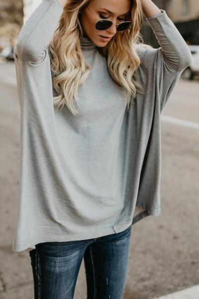 Katie Turtleneck Casual Top