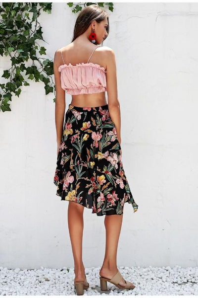 Andrea Floral Midi Skirt