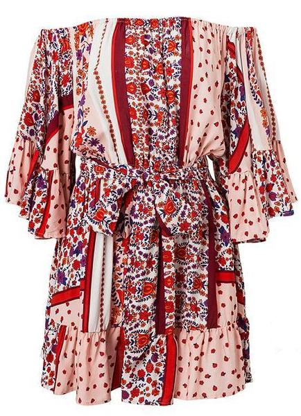 Katrin Flared Boho Dress