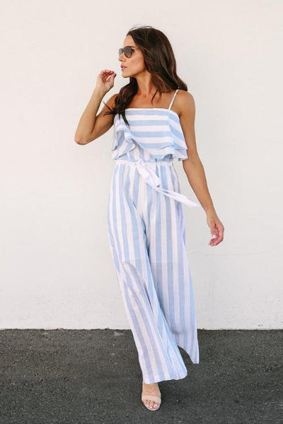 Sonia Striped Jumpsuit