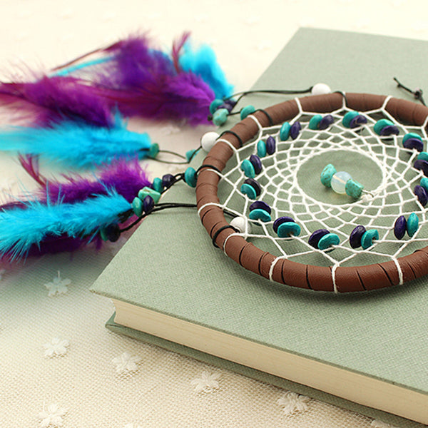 Enchanted Forest Dreamcatcher With Feathers, Home, lovepeaceboho, lovepeaceboho