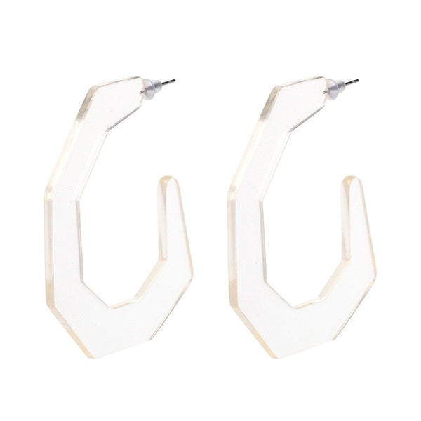 Transparent Acrylic Earrings