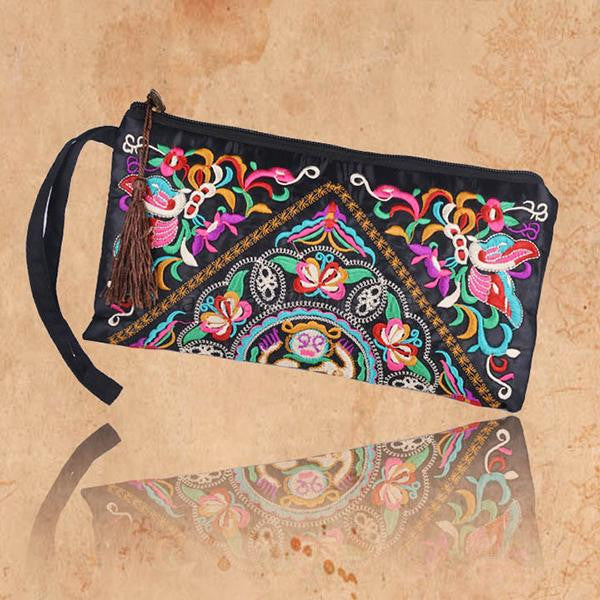 Embroidered Pattern Clutch, Bags, lovepeaceboho, lovepeaceboho