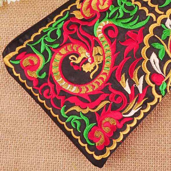 Embroidered Pattern Clutch