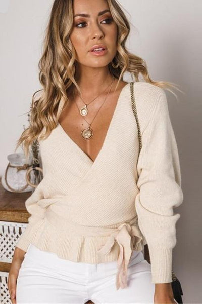 Tiana Wrap Knit Top