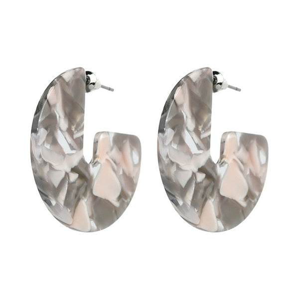 Acid Acrylic Stud Earrings