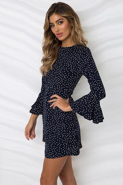 Kanya Flared Sleeve Dress