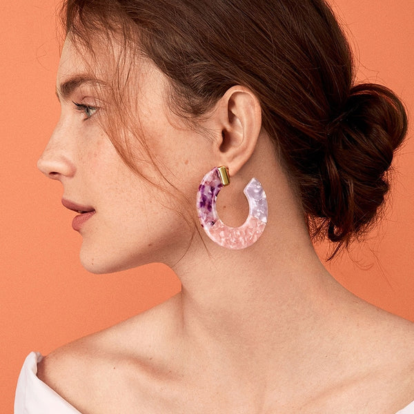 Sandy Beach Statement Earrings