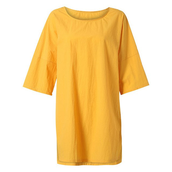 Dasha Mustard Tunic Dress