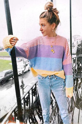 Eris Pastel Stripes Sweater