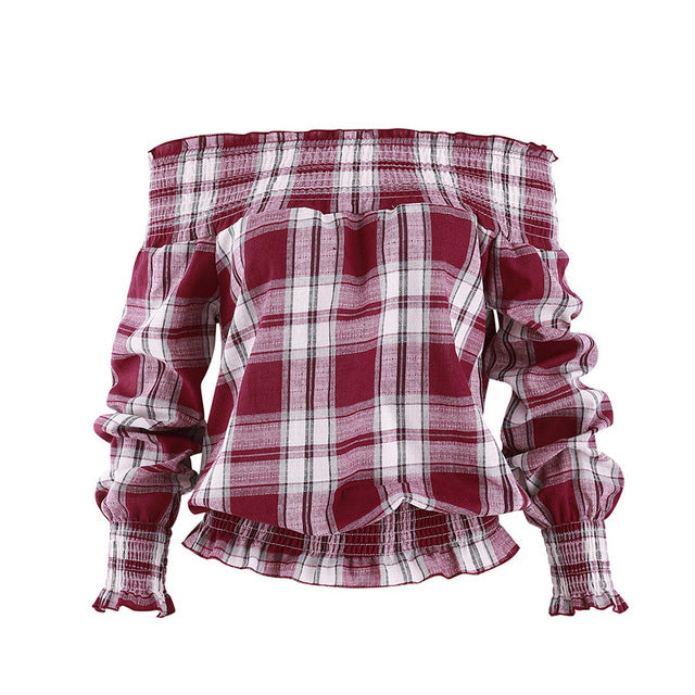 Sweet Memories Plaid Top