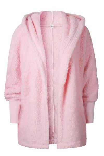 Hainsli Hooded Fluffy Coat
