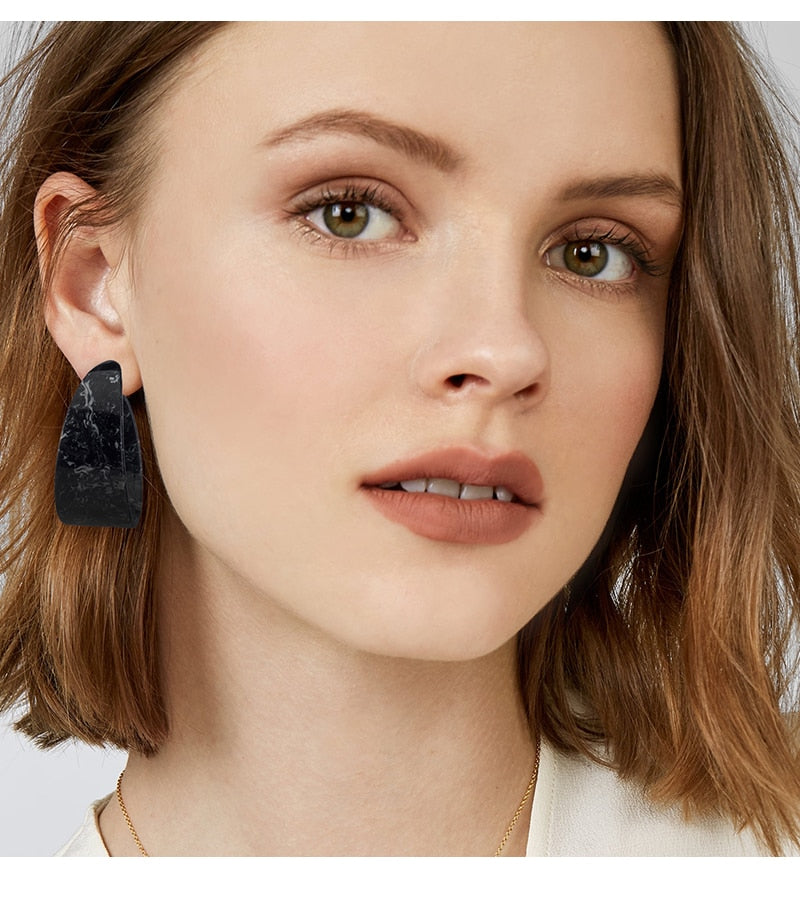 Semicircle Stud Earrings