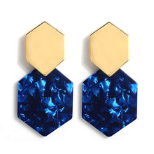 Load image into Gallery viewer, Athena Polygon Drop Earrings