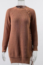 Load image into Gallery viewer, Jeya Laced Tunic Sweater
