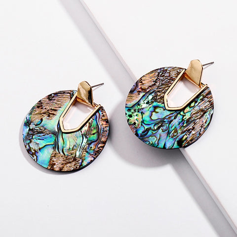 Resin Round Earrings