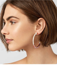 Load image into Gallery viewer, Dahlia Hoop Earrings