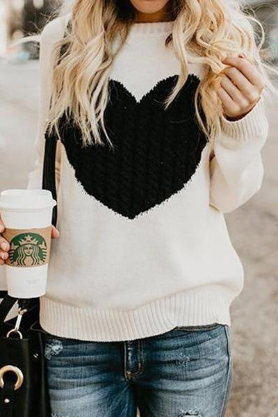 Kiysa Heart Knit Sweater