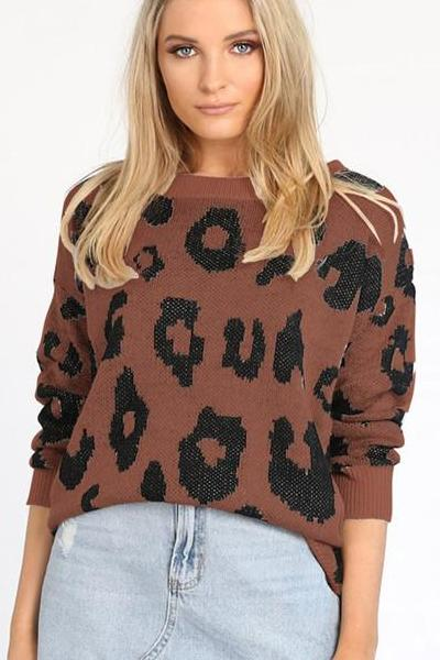 Ayesha Leopard Sweater