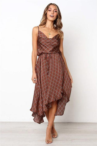 Brooklyn Asymmetrical Plaid Dress