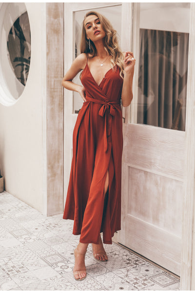 Tory Brick Red Jumpsuit