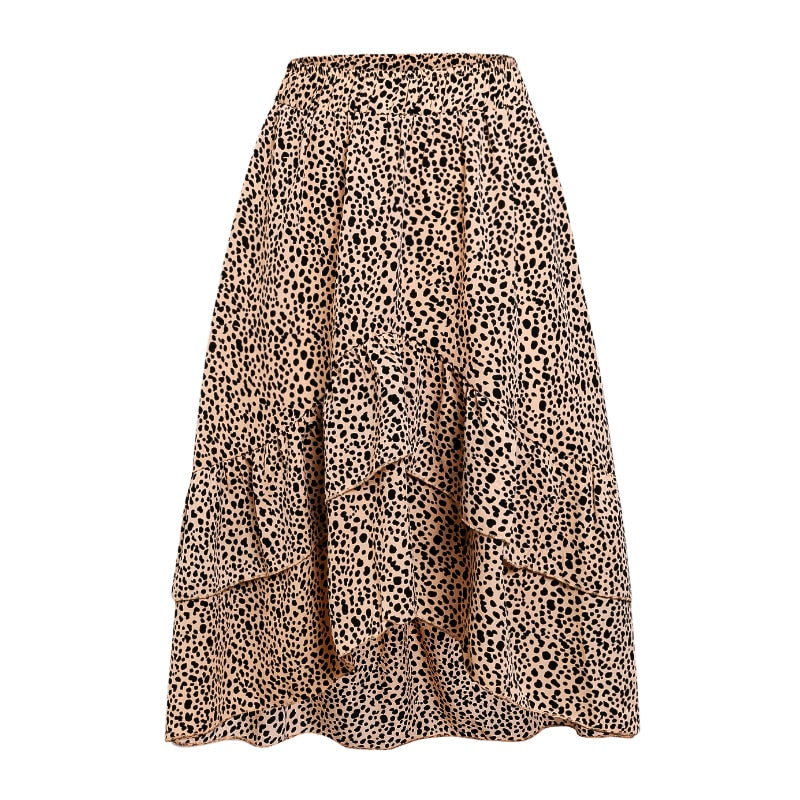 Leona Asymmetrical High Waist  Skirt