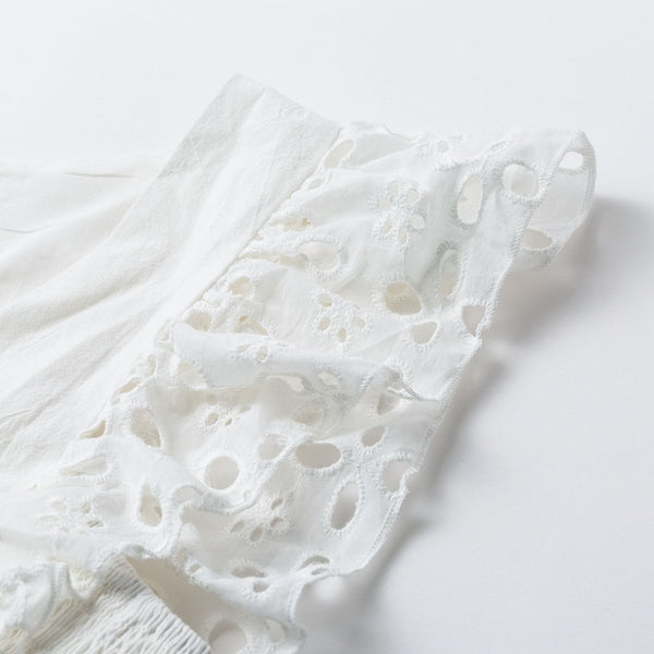 Davey Ruffled Eyelet Top