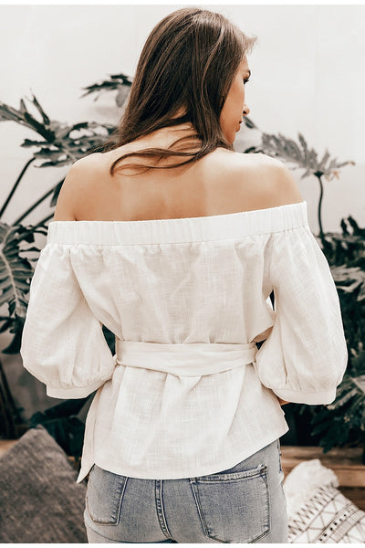 Erich Belted Off Shoulder Top