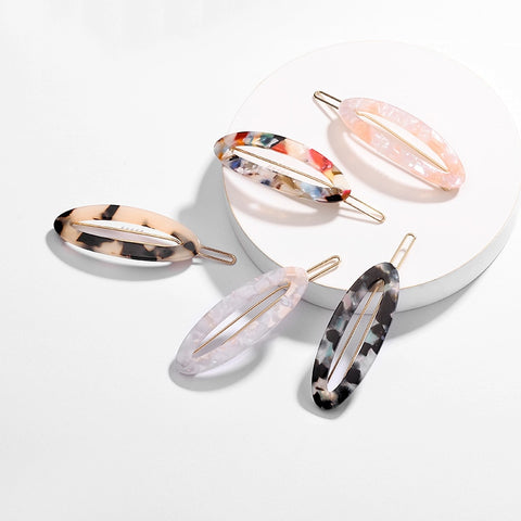 Acrylic Oval Hair Clips