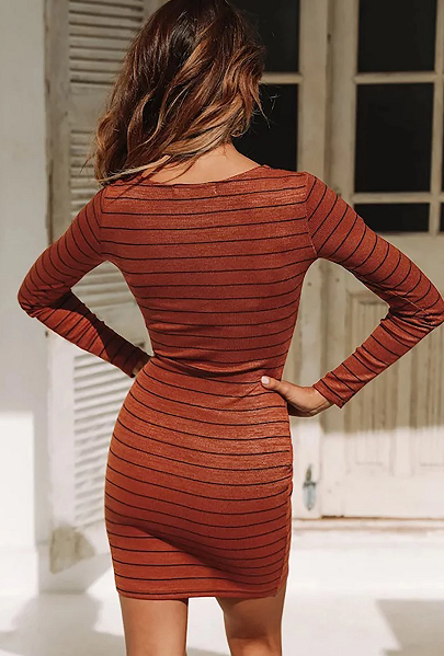 Regina Striped Bodycon Dress
