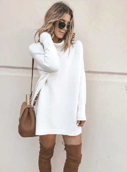 Reily Knitted Sweater Dress