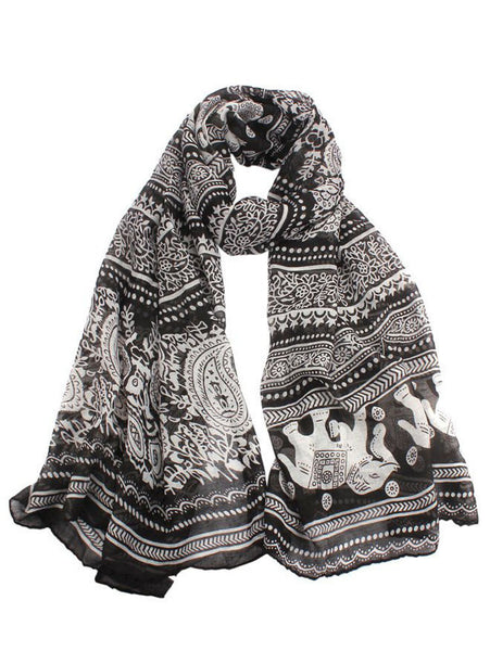 Thai Elephant Scarf