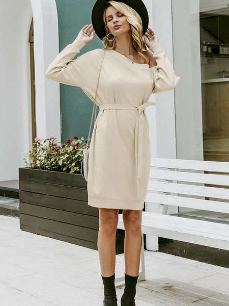 Shara Belted Knitted Dress