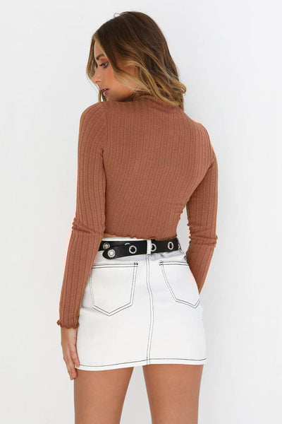 Shandi Ribbed Crop Top