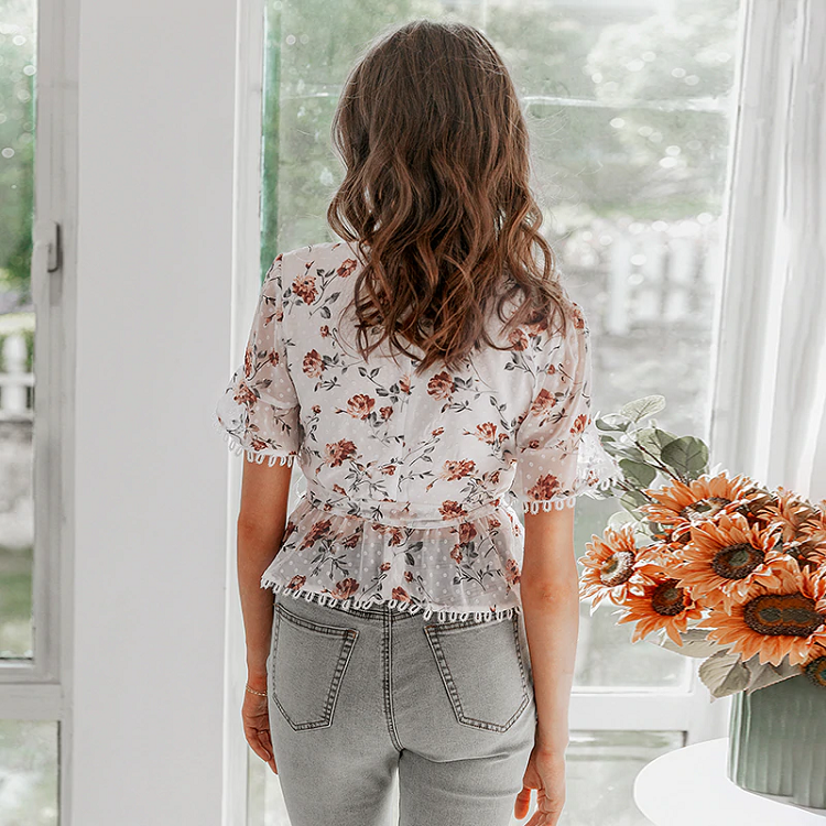 Solace Floral Peplum Top