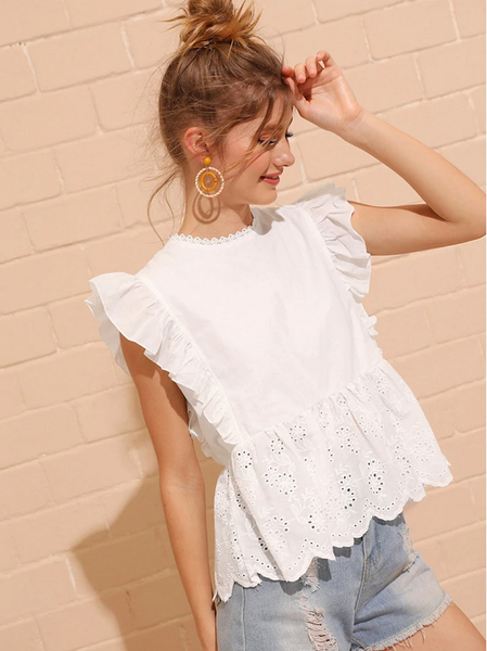 Tippy Ruffled Peplum Top