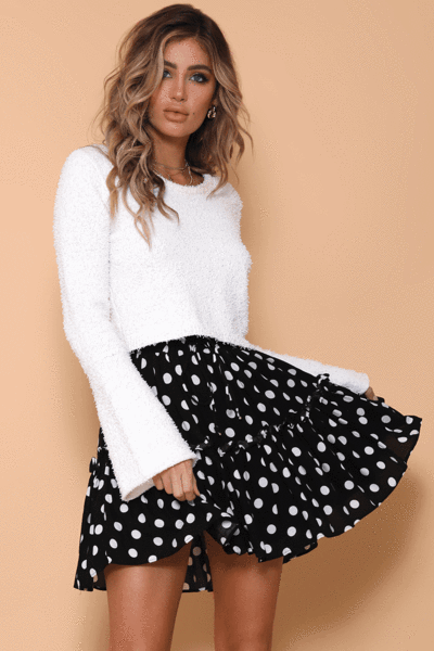 Christabelle Polka Dot Mini Skirt