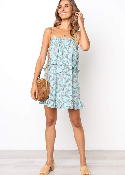 Yassey Ruffled Mini Dress