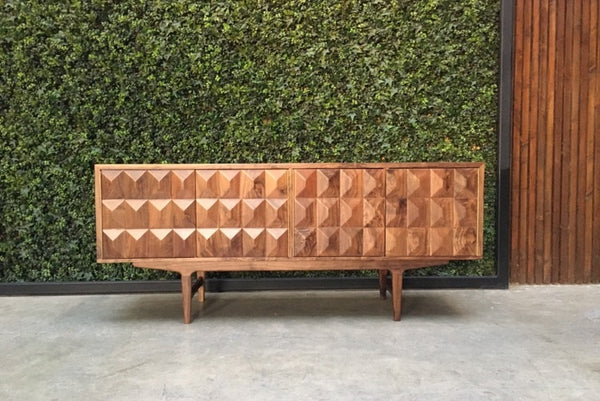 Cubist Credenza with H-Base