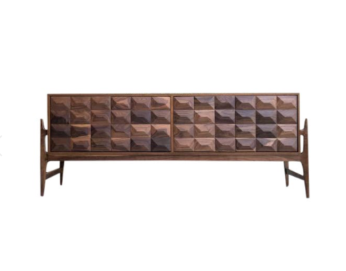 Cubist Credenza with U-Base