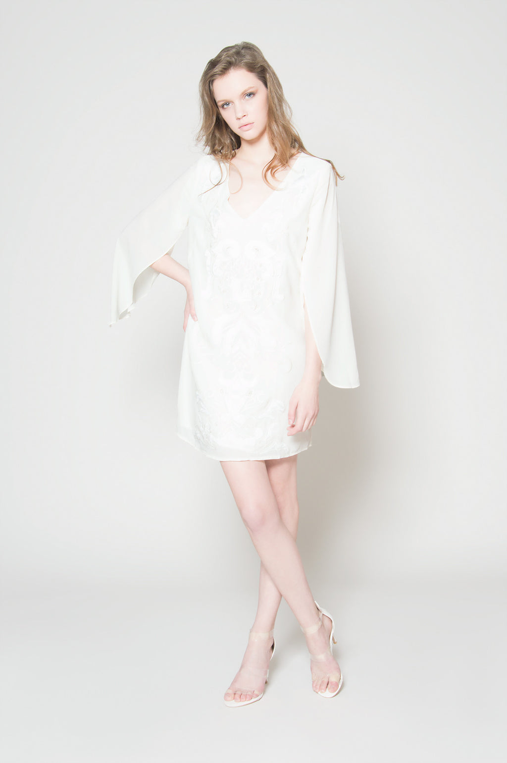 Wedding date wing sleeve dress, Dresses