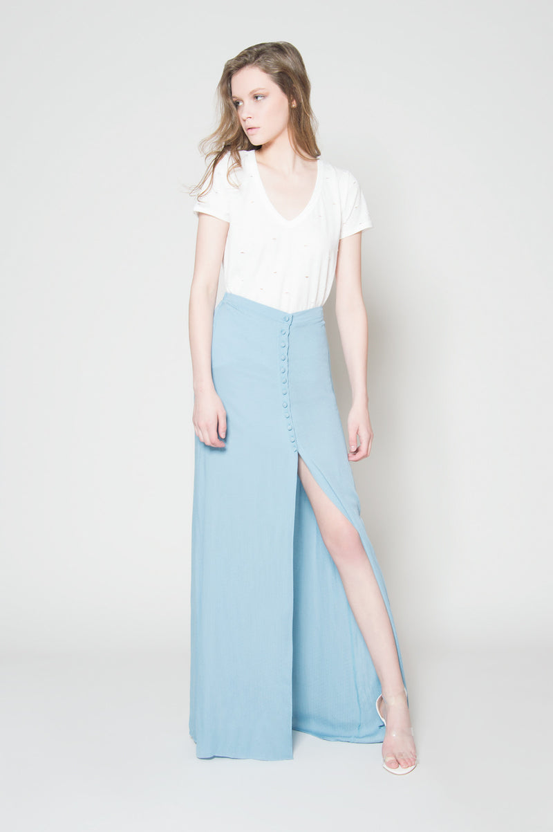 Something good button down maxi skirt