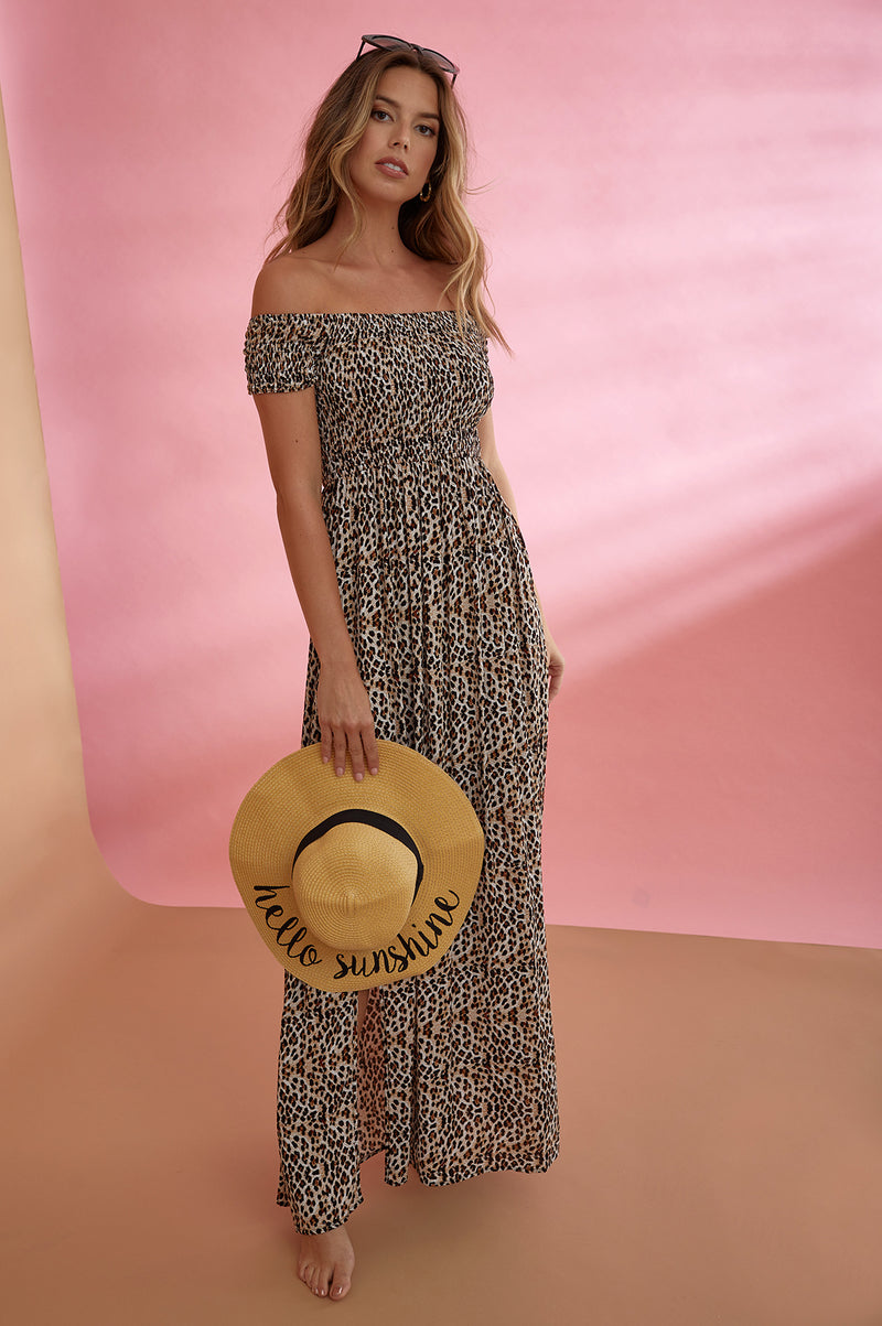 Sweet spot off shoulder maxi dress